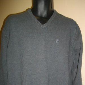Izod Mens Long Sleeves Gray Pullover Sweater XXL